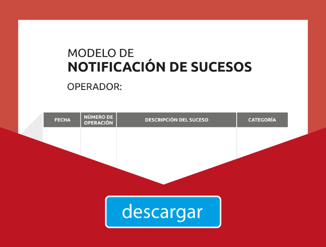 curso AESA 3 - descarga documento notificación de sucesos